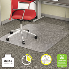 Picture of EconoMat Occasional Use Chair Mat for Low Pile, 36 x 48 w/Lip, Clear