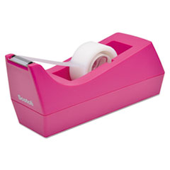 "Picture of Desktop Tape Dispenser, 1"" Core, Weighted Non-Skid Base, Hibiscus"