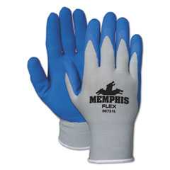 Picture of Memphis Flex Seamless Nylon Knit Gloves, Large, Blue/Gray, Pair