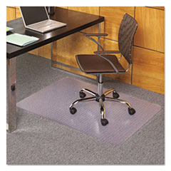 Picture of EverLife Chair Mats For Medium Pile Carpet, Rectangular, 36 x 48, Clear
