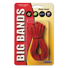 Picture of Big Bands Rubber Bands, 7 x 1/8, Red, 12/Pack