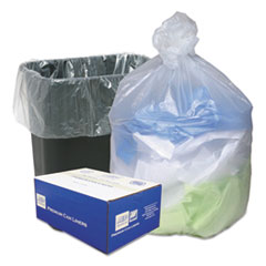 Picture of High Density Can Liners, 16gal, .315mil, 24 x 33, Natural, 200/Carton