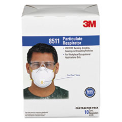 Picture of Particulate Respirator w/Cool Flow Exhalation Valve, 10 Masks/Box