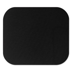Picture of Polyester Mouse Pad, Nonskid Rubber Base, 9 x 8, Black