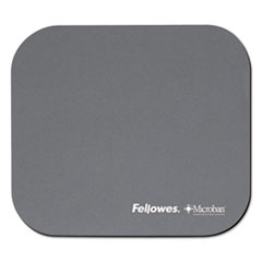Picture of Mouse Pad w/Microban, Nonskid Base, 9 x 8, Graphite