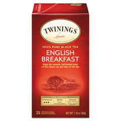 Picture of Tea Bags, English Breakfast, 1.76 oz, 25/Box