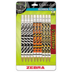 Picture of Cadoozles Mechanical Pencil, Refillable, #2, Assorted Barrels, 0.7 mm, 10/Pack
