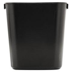 Picture of Deskside Plastic Wastebasket, Rectangular, 3 1/2 gal, Black