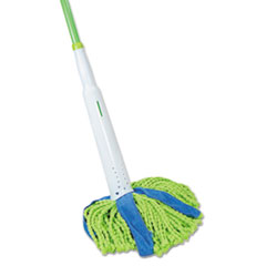 "Picture of Cone Mop Supreme, 8"" Wide, 31 3/4"" Steel Handle, Green/Blue, Each"