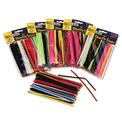 """Picture of Regular Stems, 6"""" x 4mm, Metal Wire, Polyester, Assorted, 100/Pack"""