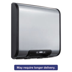 Picture of TrimLine ADA Automatic Hand Dryer, 115V, 1725 Watts, Stainless Steel/Black