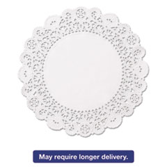 "Picture of Brooklace Lace Doilies, Round, 5"", White, 2000/Carton"