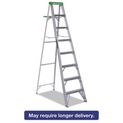 Picture of #428 Folding Aluminum Step Ladder, 8 ft, 7-Step, Green