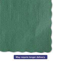 Picture of Solid Color Scalloped Edge Placemats, 9 1/2 x 13 1/2, Hunter Green, 1000/Carton
