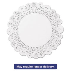 "Picture of Brooklace Lace Doilies, Round, 4"", White, 2000/Carton"