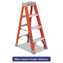 "Picture of Fiberglass Heavy Duty Step Ladder, 50"", 3-Step, Orange"