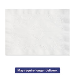 Picture of Anniversary Embossed Scalloped Edge Tray Mat, 14 x 19, White, 1000/Carton