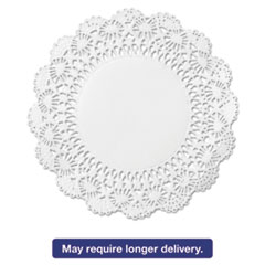"Picture of Cambridge Lace Doilies, Round, 12"", White, 1000/Carton"
