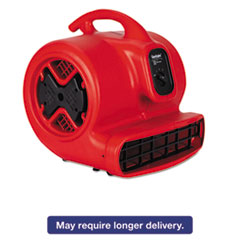 Picture of Commercial Three-Speed Air Mover, 1/2 hp Motor, 20 lbs, Red/Black