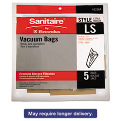Picture of Commercial Upright Vacuum Cleaner Replacement Bags, Style LS, 5/Pack