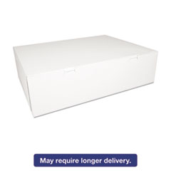 Picture of Bakery Boxes, White, Paperboard, 18 1/2 x 14 1/2 x 5, 50/Carton