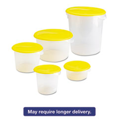 Picture of Round Storage Containers, 2qt, 8 1/2dia x 4h, Clear