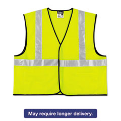 Picture of Class 2 Safety Vest, Lime Green w/Silver Stripe, Polyester, 3X-Large
