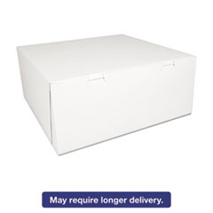 Picture of Bakery Boxes, White, Paperboard,14 x 14 x 6, 50/Carton