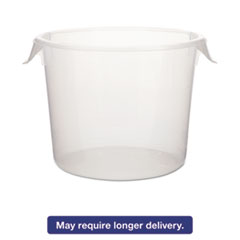 Picture of Round Storage Containers, 6 qt, 10dia x 7 5/8h, Clear