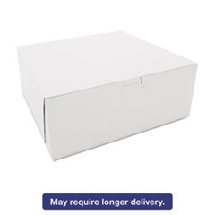 Picture of Bakery Boxes, White, Kraft, 10W x 10D x 4H