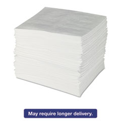 Picture of ENV MAXX Enhanced Oil Sorbent Pads, .24gal, 15w x 19l, White, 100/Bundle