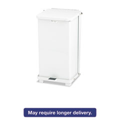 Picture of Defenders Biohazard Step Can, Square, Steel, 12gal, White