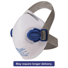 Picture of R10 Particulate Respirator, N95, White w/Gray Straps, 10/Box
