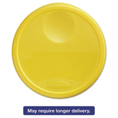 Picture of Round Storage Container Lids, 13 1/2 dia x 2 3/4h, Yellow