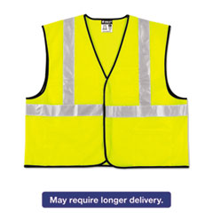 Picture of Class 2 Safety Vest, Lime Green w/Silver Stripe, Polyester, 4X-Large