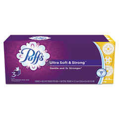 Picture of Ultra Soft and Strong Facial Tissue, 2-Ply, White, 56 Sheets/Box, 3/Pack