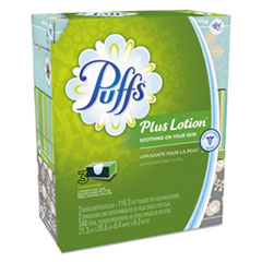 Picture of Plus Lotion Facial Tissue, White, 2-Ply, 116/Box, 3 Boxes/Pack, 8 Packs/Carton