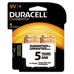 Picture of CopperTop Alkaline Batteries with Duralock Power Preserve Technology, 9V, 4/Pk