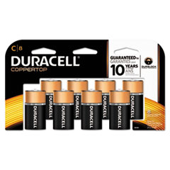 Picture of CopperTop Alkaline Batteries with Duralock Power Preserve Technology, C, 8/Pk