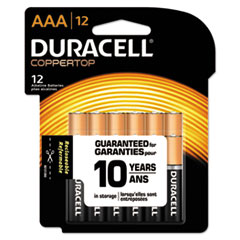 Picture of CopperTop Alkaline Batteries with Duralock Power Preserve Technology, AAA, 12/Pk