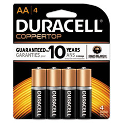 Picture of CopperTop Alkaline Batteries with Duralock Power Preserve Technology, AA, 4/Pk