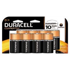 Picture of CopperTop Alkaline Batteries with Duralock Power Preserve Technology, D, 8/Pk