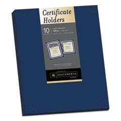 Picture of Certificate Holder, Navy, 105lb Linen Stock, 12 x 9 1/2, 10/Pack