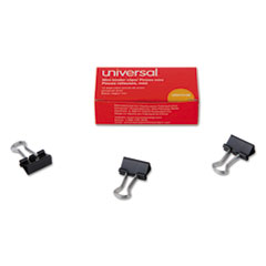 "Picture of Mini Binder Clips, 1/4"" Capacity, 5/8"" Wide, Black, 12/Box"