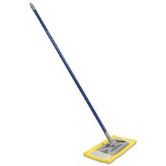 "Picture of Microfiber Floor Mop, 48"" Handle, 6 1/2 x 2 1/2 Frame, Blue"