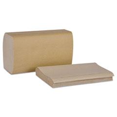 Picture of Universal Singlefold Hand Towel, 1-Ply, 9 1/8Wx10 1/4L, Natural, 250/PK,16PK/Ctn