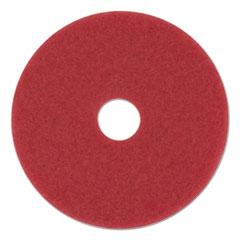 """Picture of Standard Floor Pads, 13"""" Diameter, Red, 5/Carton"""