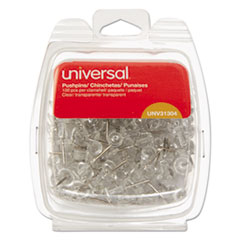 """Picture of Clear Push Pins, Plastic, 3/8"""", 100/Pack"""