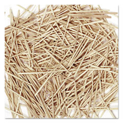 Picture of Flat Wood Toothpicks, Wood, Natural, 2500/Pack