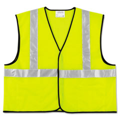 Picture of Class 2 Safety Vest, Fluorescent Lime w/Silver Stripe, Polyester, Large
